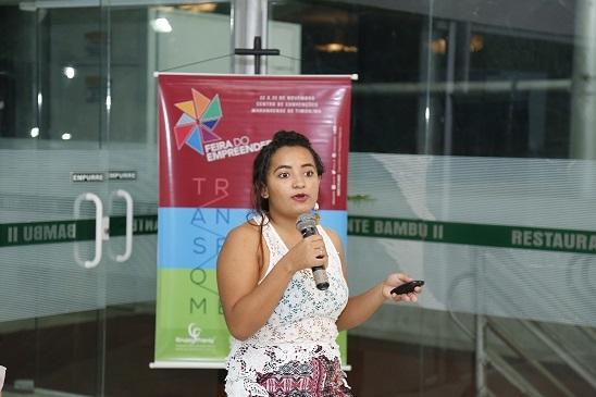 Estudante vencedora da Corrida de Startups